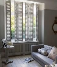 Open shutter living room