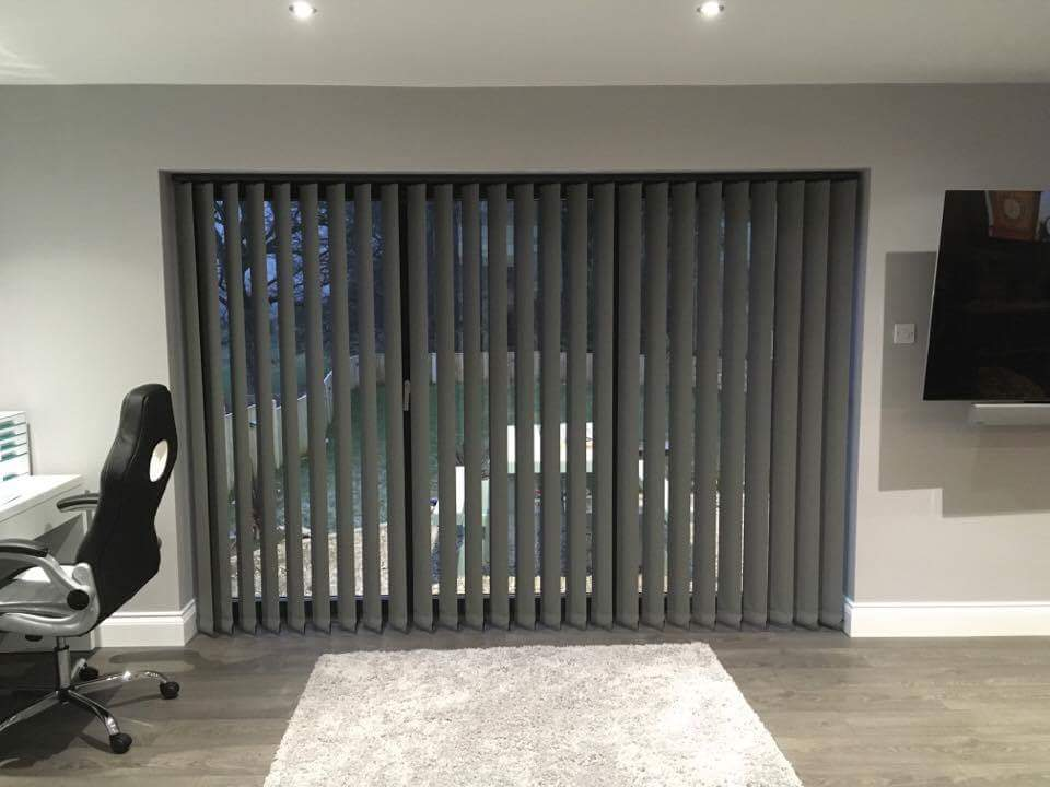 Stylish Vertical Blinds For Bi Fold Doors Dencas