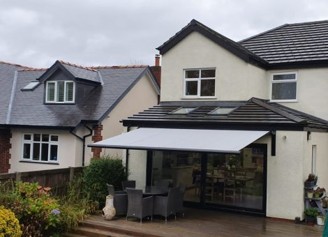 weinor awning installed in cheshire by dencas of chester
